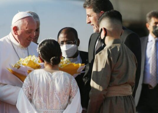 Pope Francis visits regions of Iraq once held by Islamic state