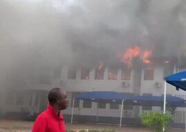 Fire guts Mampong Technical administrative block