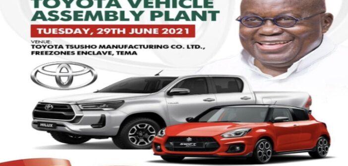 President Akufo-Addo to commission Toyota vehicle plant