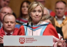 Hillary Clinton to be officially installed as chancellor of  Queens University